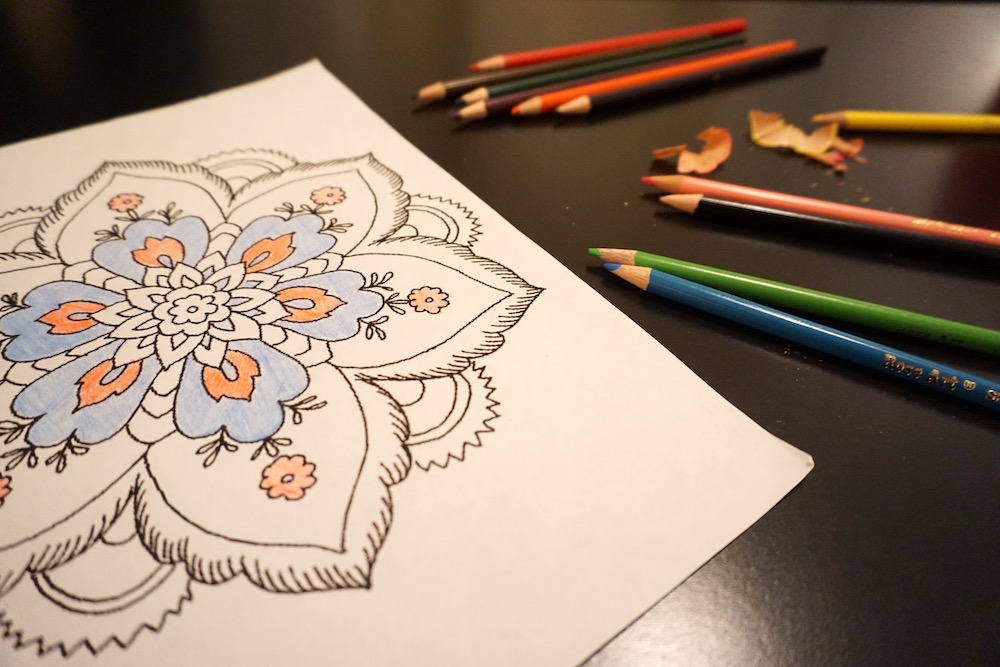 Color pencil flower